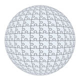 Puzzle sphere Stock Photo