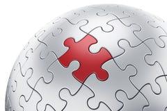 Puzzle sphere Stock Photo