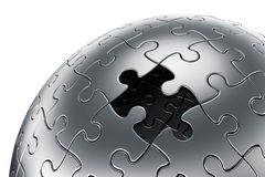 Puzzle sphere Stock Photos