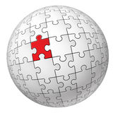 Puzzle sphere Royalty Free Stock Photos