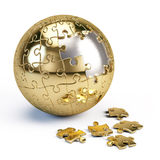Puzzle sphere Royalty Free Stock Photography