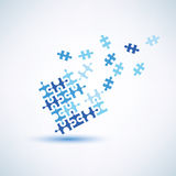 Puzzle square abstract symbol Stock Photo