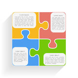 Puzzle Square. Square made of puzzle pieces with place for text Stock Photos
