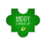 Puzzle with St.Patrick day design Royalty Free Stock Images