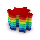 Puzzle stack up power Royalty Free Stock Photo