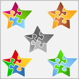 Puzzle Stars Royalty Free Stock Images