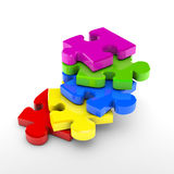 Puzzle steps. Puzzle overlap to represent achievement Stock Photography