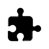 Puzzle strategy creativity abstract pictogram Stock Images