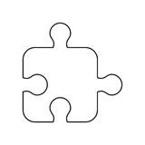Puzzle strategy creativity abstract thin line Royalty Free Stock Photo