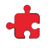Puzzle strategy creativity solution Stock Photos