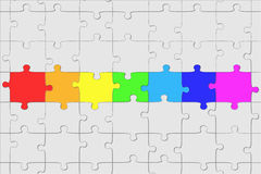 Puzzle structure Stock Image