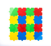 Puzzle su bianco Immagini Stock Libere da Diritti