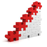 Puzzle success financial bar chart graph Stock Photography