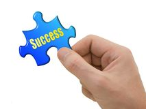 Puzzle Success in hand Stock Photography