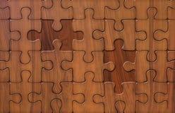 Puzzle sur le bois Photo stock