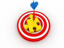 Puzzle on target Royalty Free Stock Photo