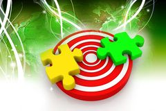 Puzzle on target Stock Photography