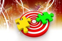 Puzzle on target Stock Image