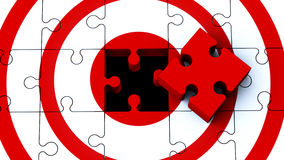 Puzzle target Royalty Free Stock Photography