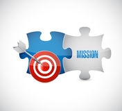 Puzzle target and mission concept illustration Stock Photography