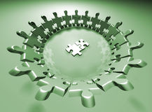 Puzzle team. Human puzzle pieces - 3d render Royalty Free Stock Photos