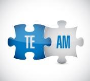 Puzzle team illustration design stock illustration