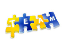 Puzzle with team text Royalty Free Stock Images