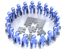 Puzzle team work Stock Images