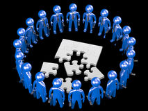 Puzzle team work Royalty Free Stock Photography