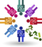 Puzzle team work logo Royalty Free Stock Photography