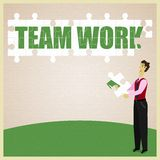 Puzzle Teamwork Stock Image