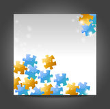 Puzzle  template Stock Image