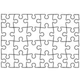 Puzzle template. Royalty Free Stock Photos