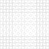 Puzzle template. Every piece is a single shape. White Jigsaw  puzzle. Seamless puzzle texture. Puzzle template. Cutting guidelines. Every piece is a single shape Stock Images
