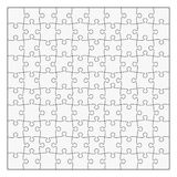 Puzzle template 10x10 pieces. Easy to remove separate pieces Stock Photo