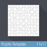 Puzzle Template 11x11 Stock Photos