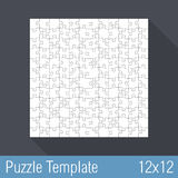 Puzzle Template 12x12 Stock Images