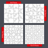 Puzzle Templates Stock Photo
