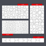 Puzzle Templates. Set of different puzzle templates Stock Images