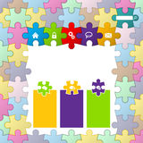 Puzzle theme website template design Stock Images