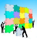 Puzzle three-dimensional Stock Image