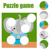 Puzzle for toddlers. Matching children educational game. Match pieces and complete the picture. Activity for pre school years kids royalty free illustration