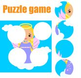 Puzzle for toddlers. Matching children educational game. Match pieces and complete the picture. Activity for pre school years kids Stock Photo