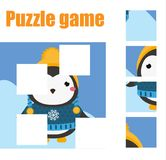 Puzzle for toddlers. Matching children educational game. Match pieces and complete the picture. Activity for pre school years kids Stock Photos