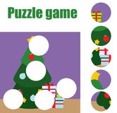 Puzzle for toddlers. Matching children educational game. Match pieces and complete the picture. Activity for pre school years kids Royalty Free Stock Photos
