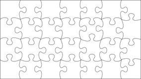 Puzzle trasparente di vettore Immagini Stock