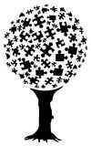 Puzzle tree Royalty Free Stock Images