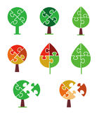 Puzzle Tree icons Royalty Free Stock Photo