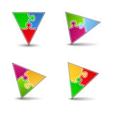 Puzzle Triangles Stock Photography