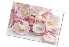 Puzzle with  wedding rings Stock Image